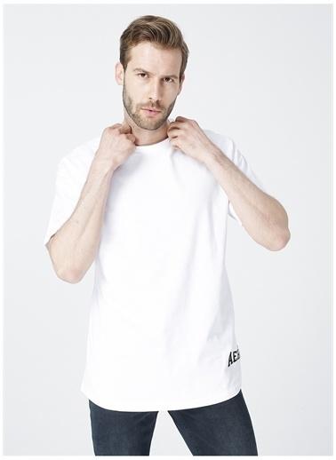 Aeropostale Aeropostale Bisiklet Yaka Baskılı BeyazErkek T-Shirt Beyaz